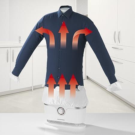 CLEANmaxx Plancha automática sin función de vapor | Seca y alisa camisas y blusas y sustituye a la plancha | Estación de planchado automática con 2 ...