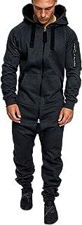 Amaci&Sons Herren Overall Jumpsuit Jogging Cargo-Style Onesie Trainingsanzug Camouflage 3006