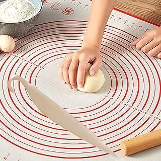 حصيرة سيليكون 60 * 40 للعجين والخبز والكعك والفطائر والبيتزا، بما في ذلك رسم توضيحي للمقاسات والأحجام الأساسية من البيتزا ...