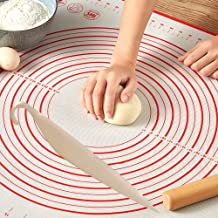 Silicon mat 60 * 40 for dough, bakery, cake, pies and pizza, including an illustrated graphic of the sizes and basic sizes...