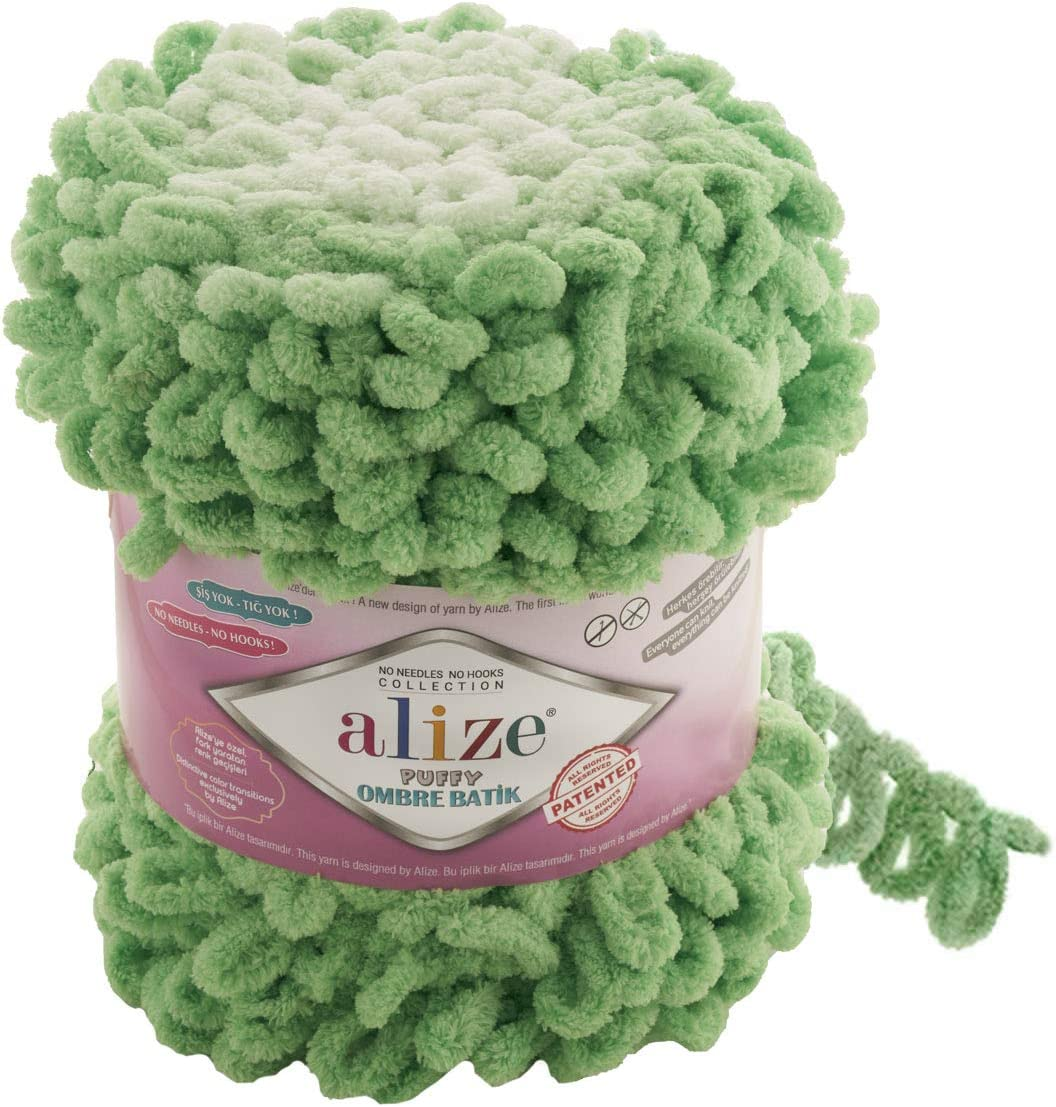 Super sale period limited Alize Max 47% OFF Puffy Ombre Batik Yarn 1 600 SKEÄ°N Micropolyest 61 GR YDS