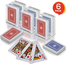 Gamie 2.5 Inch Mini Playing Cards - Pack of 6 Decks - Miniature Card Set - Small Casino Game Cards for Kids, Men, Women - ...