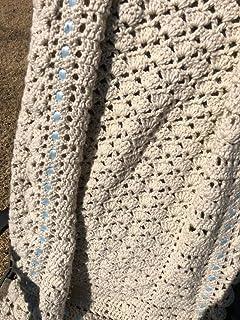 Handmade Ecru Baby Blanket Afghan