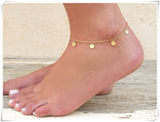 Dainty Coin Charms Anklet, Gold Coin Anklet,