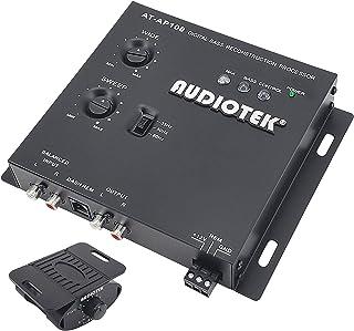 Audiotek AT-AP100 1/2 DIN coche Audio Digital Bass procesador y restauración de sonido, Crossover para sintonizadores de s...