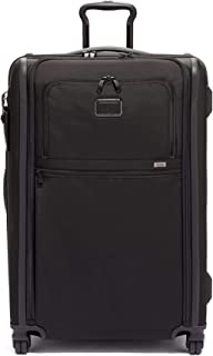 Alpha 3 Medium Trip Expandable 4 Wheeled Packing Case Suitcase - Rolling Luggage for Men and Women - Black