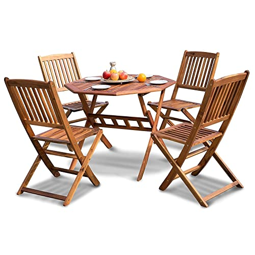 Terrific Wooden Garden Table And Chairs Amazon Co Uk Download Free Architecture Designs Sospemadebymaigaardcom