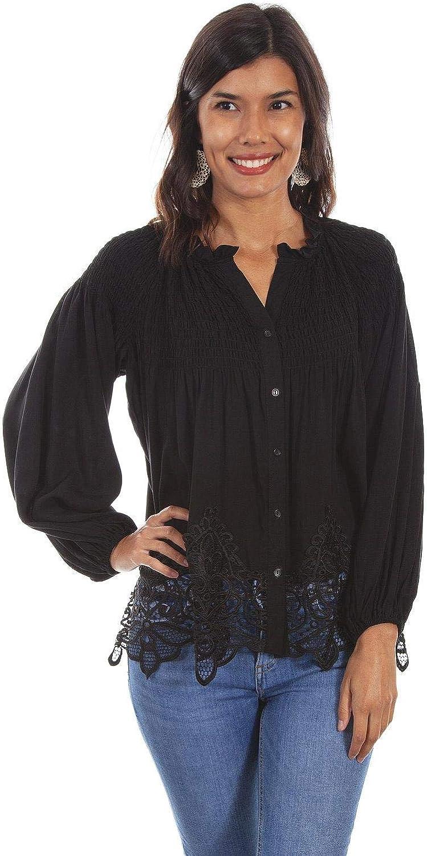 Scully, Women's Honey Creek Blouse, Black,