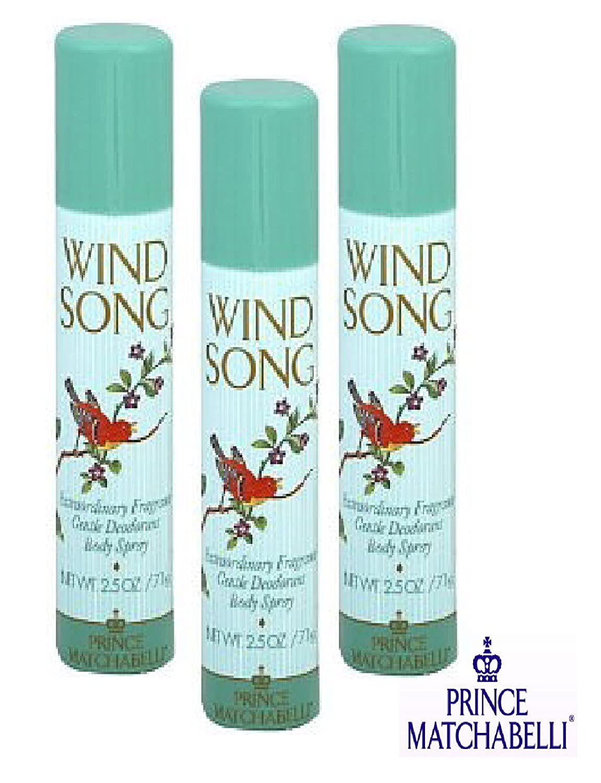 WIND SONG BODY SPRAY 3 Sales PACKAGE OF Sale item -