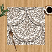 Cool pillow Geometric Fish Scale Design Abstract Batik The Arts Washable Placemats for Dining Table Double Fabric Printing Polyester Place Mats for Kitchen Table Set of 4 Table Mat 12