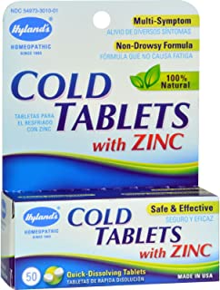 Hylands Cold Tablet with Zinc - 50 per pack - 6 packs per case.