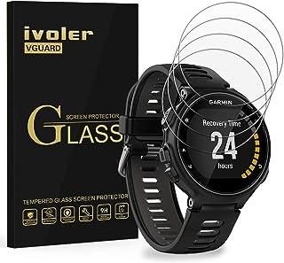 ivoler [4-pack] kompatibel med Garmin Forerunner 735XT skärmskydd, härdat glasfilm [9H hårdhet] [Anti-repa] [kristallklar]
