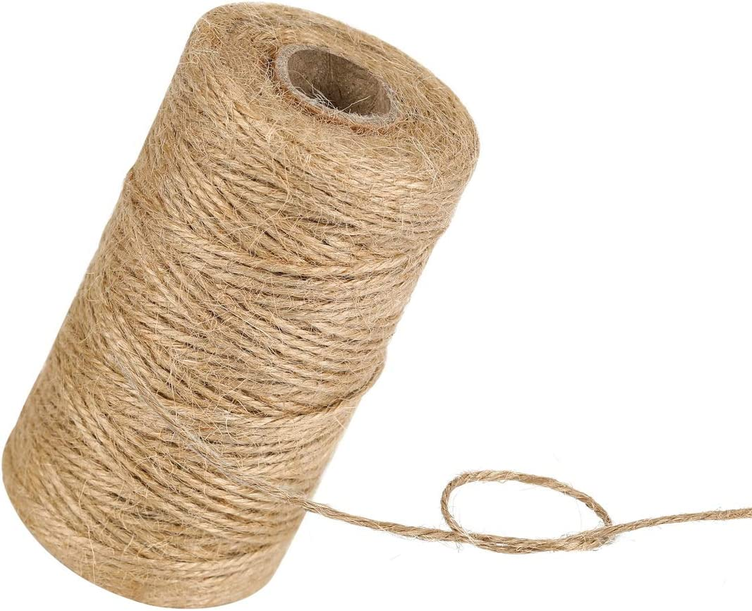 328Feet 3Ply Natural Jute Twine Crafts KUTONTECH Arts Recommended Manufacturer OFFicial shop and