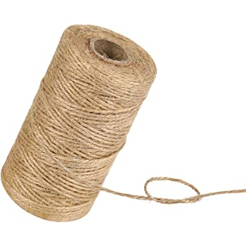 60M Natural Jute Twine Best Arts Crafts Gift Twine Christmas Twine Durable