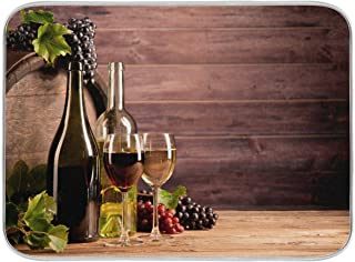 WELLDAY Wine Board Dish Drying Mat Reversible Microfiber Super Absorbent Kitchen Countertops with Hanging Loop