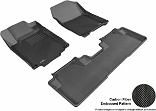 3D MAXpider L1HD04301509 Complete Set Custom Fit All-Weather Kagu Series Floor Mats in Black Select Honda CR-V Models