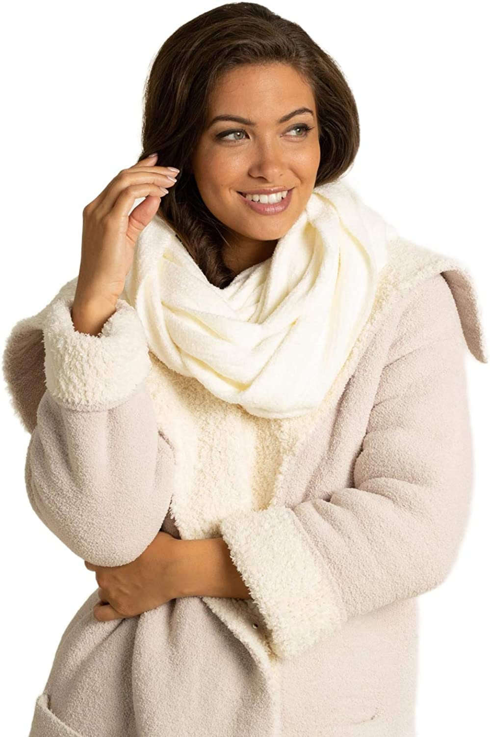 Barefoot Dreams CozyChic Lite Infinity Scarf, Knit Scarf for Women and Teens