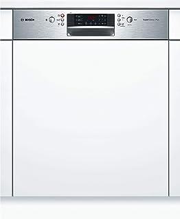 Bosch SMI46MS04E lavavajilla Semi-incorporado 14 cubiertos A++ - Lavavajillas (Semi-incorporado, Blanco, Tamaño completo (60 cm), Plata, Plata, Botones)