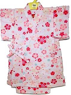 甚平 子供 日本製 キッズ 女の子 男の子 桜 さくら 浴衣 リップル 甚平セット かわいい 柄甚平 和柄 ベビー甚平 花 フラワー 夏 ベビー 女児 男児 幼児 園児 小学生 赤ちゃん