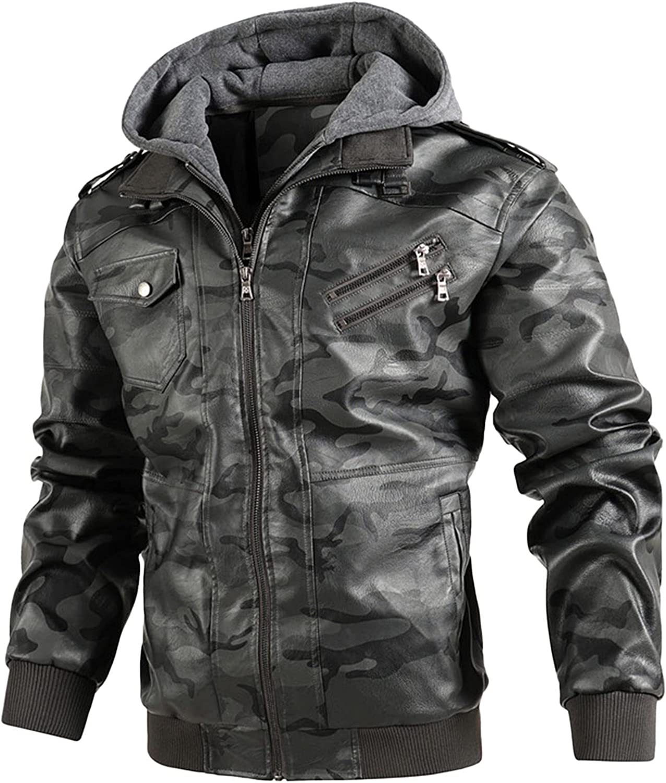 2021 Men's Trend Leisure Plus Size Jacket Leisure Zipper Digging Bag Hooded Coat