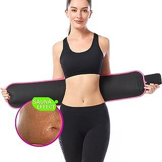 KOOCHY Waist Trimmer Slimming Belt - Waist Trainer Weight Loss AB Belt - Premium Stomach Fat Burner Wrap for Women & Men