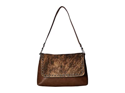 M&F Western Lynlee Conceal Carry Shoulder Bag (Brown) Handbags