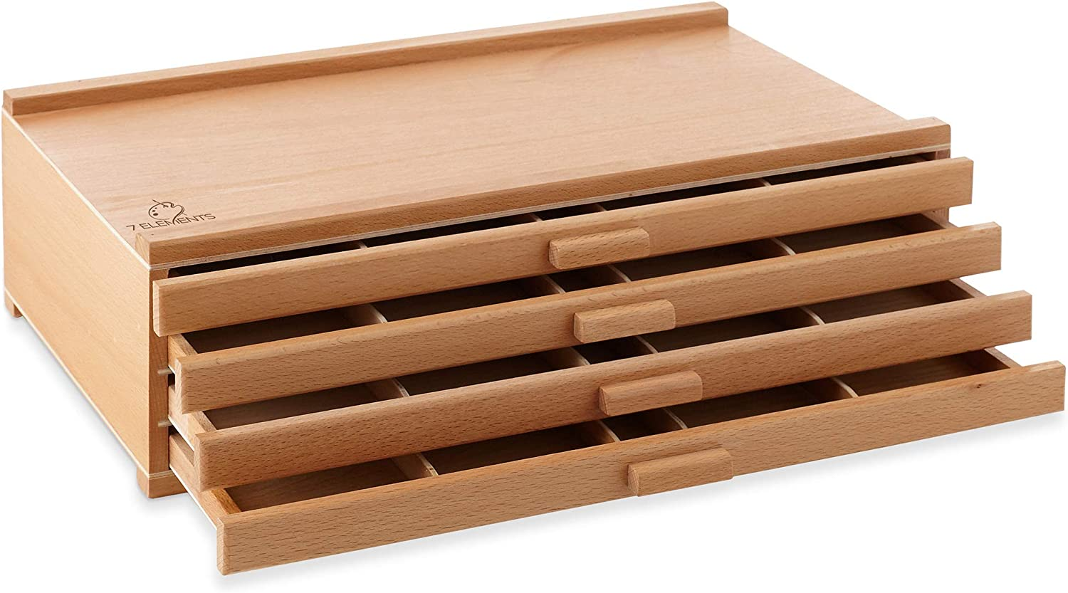 7 Elements 4 Drawer Regular discount Beechwood Artist Max 44% OFF Storage for Past Supply Box