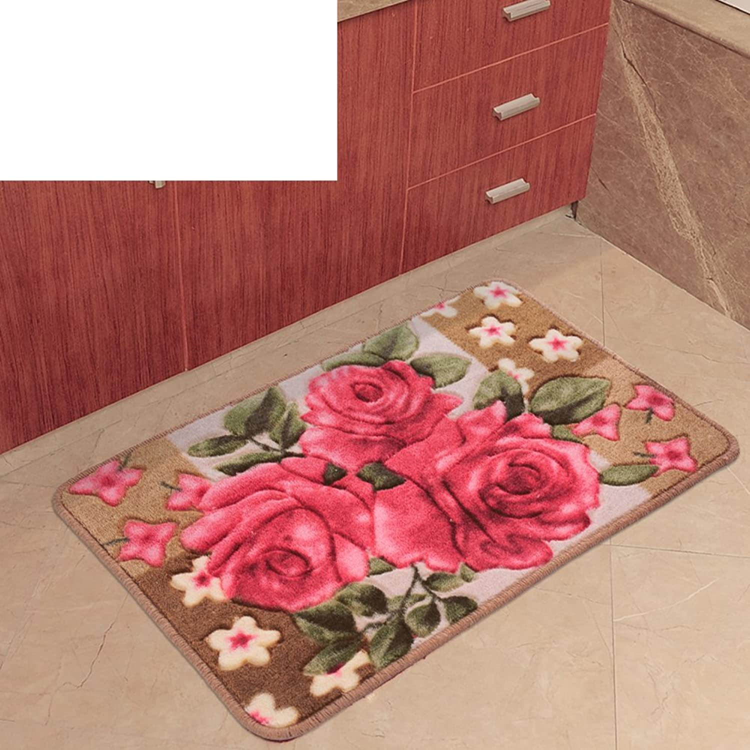 European-Style Floor Mats Doormat Entrance,Bedroom,Bathroom,Non-Slipping Mats Foot Pad Hall,Kitchen,Water-Absorption Door Mat-B 80x150cm(31x59inch)