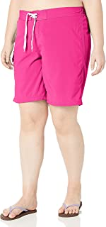 Kanu Surf Women's Plus Size Marina Solid Stretch Boardshort