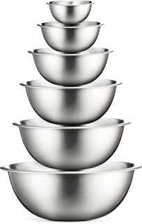 Premium Stainless Steel Mixing Bowls (Set of 6) Stainless Steel Mixing Bowl Set –..