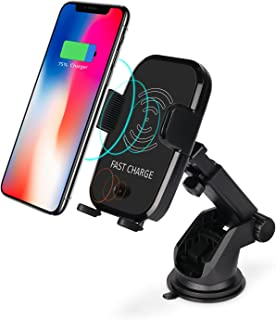ANNKOO Wireless Car Charger,Automatic Induction, Phone Holder Car Mount Charging for iPhone X, 8/8 Plus, Samsung Galaxy S8, S7/S7 Edge, Note 8,Compatible with Standard Qi-Enabled Devices