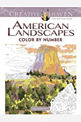 Creative Haven American Landscapes Color by Number Coloring Book (Creative Haven Coloring Books) ペーパーバック