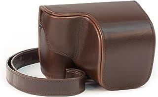 MegaGear Bolsa de Funda Protectora para Sony Alpha a5000 Sony a5100 con 16-50mm OSS Objetivo (Brown Oscuro)
