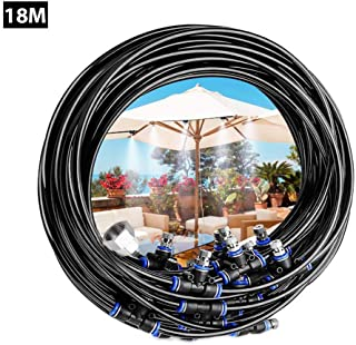 Multifunction 18 Meters Sprinkler,Water Misting Cooling System Kit,Used for Children Trampoline And Lawn Garden Watering