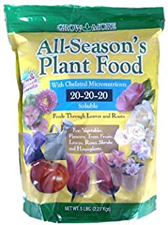Grow More 7431 All Season's Fertilizer 20-20-20, 5-Pound
