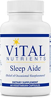 Vital Nutrients - Sleep Aide - Non Habit Forming Relief of Occasional Sleeplessness - 60 Capsules per Bottle