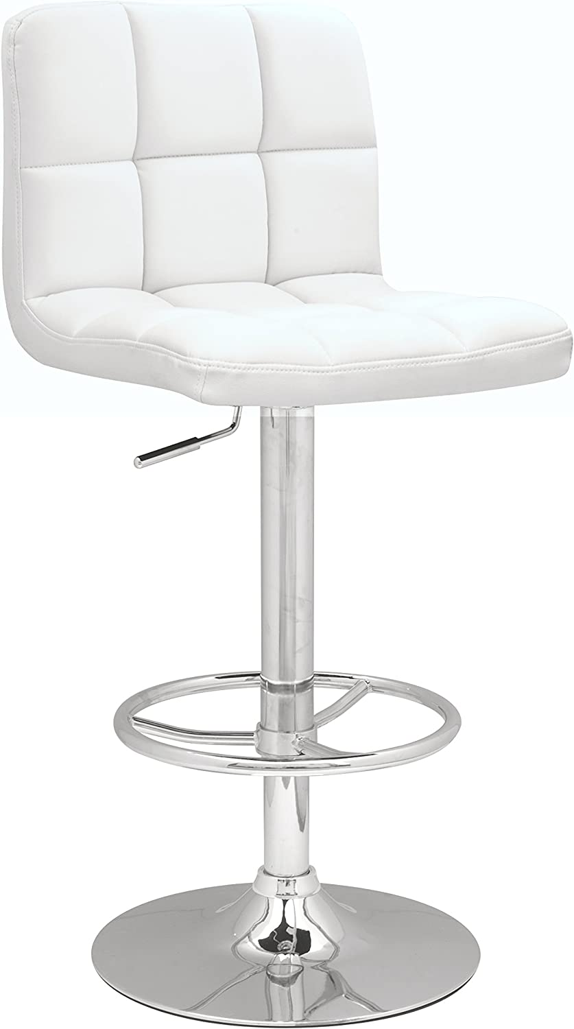 Milan WHT Meera Pneumatic Swivel Stool White