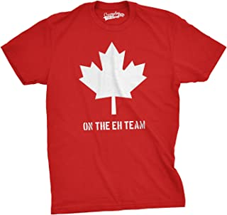 Mens On The Eh Team Canada T Shirt Funny Novelty Sarcasm Canadian Gift Cool
