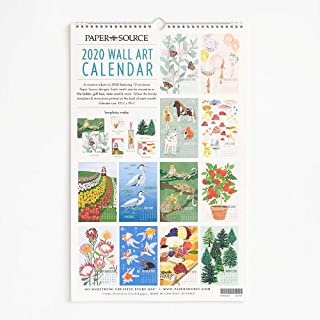 Paper Source 2020 12 Month Wall Calendar, 12 1/4
