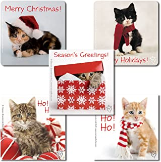 SmileMakers Rachael Hale Cats Christmas Stickers - 100 Per Pack