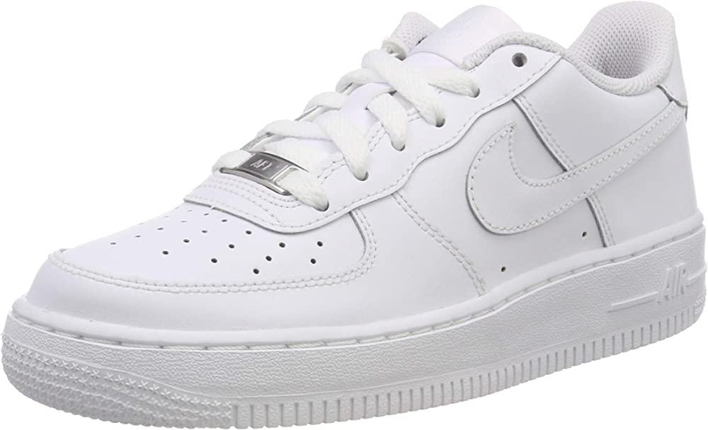 Nike air force 1 (gs), scarpe da ginnastica unisex-adulto,in pelle 314192 B