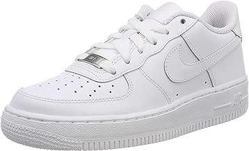 Nike Kids Air Force 1 (GS) White/White/White Basketball Shoe 4.5 Kids US