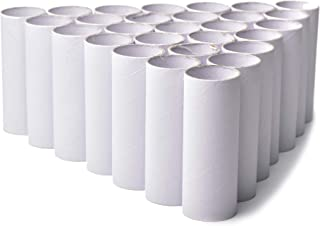 """30 Pack Craft Rolls - White Cardboard Tubes for DIY Crafts   4.5"""" Made of Thick, Premium Cardboard   Perfect Supplies for Classroom Art and Science Projects   Get Creative! Paint, Glue, Color and Cut!"""