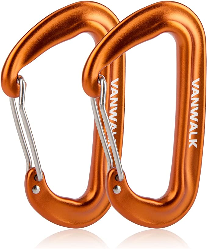 VANWALK 12KN Aluminium Wiregate Carabiners