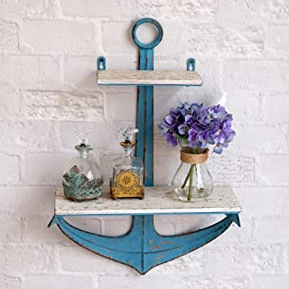Kitzen Vintage Mediterranean Style Anchor Wrought Iron Wall Hangings Wall Shelves S