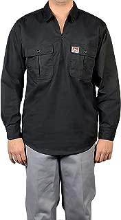Ben Davis Half Zip Button-Pocket Long Sleeve Work Shirt