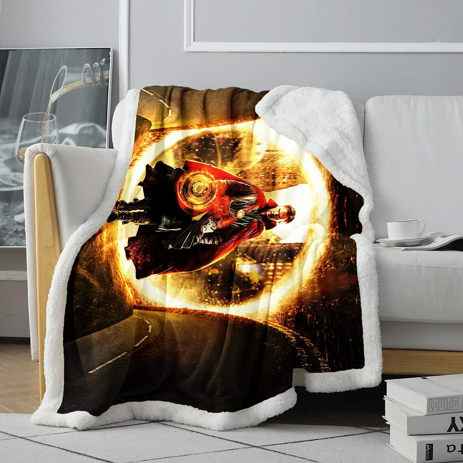 3D Pattern Sherpa StephenStrange Midnight Charact Don't miss the campaign Ranking TOP18 Son TV Blanket