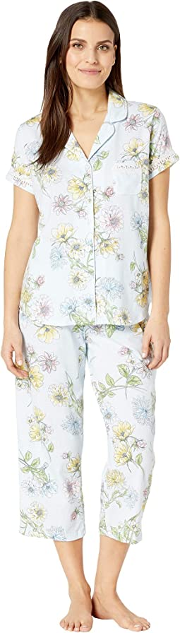 Petite Dreamer Short Sleeve Girlfriend Capris PJ
