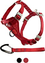 Kurgo Vehicle Safety Harness for Dogs, Universal Seatbelt Attachment via Carabiner Clip, Size: Large – Suitable for Large Breeds, Adjustable Fit, Red, Enhanced Strength Tru-Fit Smart Harness, 01406