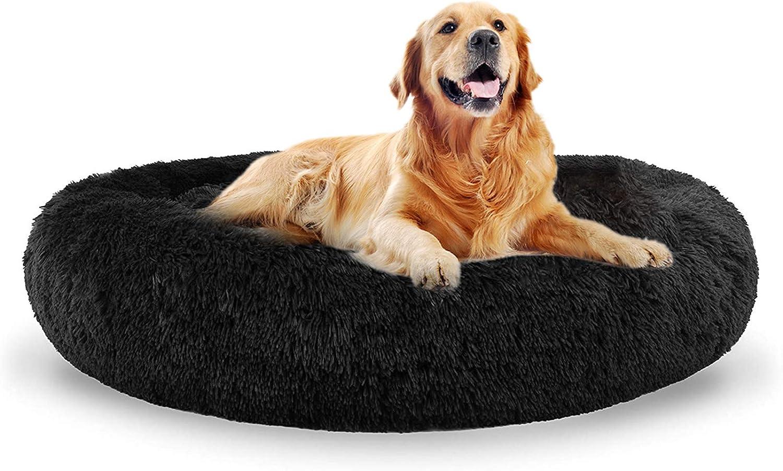 Cama para perro suave para mascotas Cama mullida de felpa Donut Cuddle Cama grande para perro sofá caliente cama para gato calmante cachorro sofá cama XXl cama para perro extra grande mediano